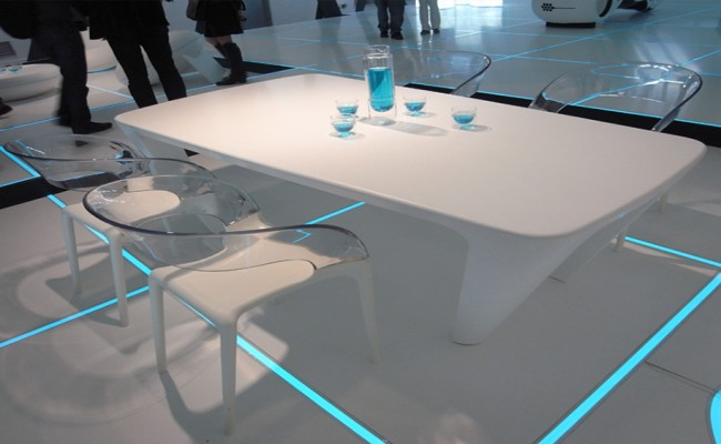 Tron Designs Corian ernestomeda table chair