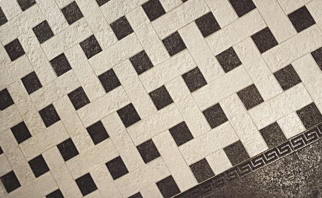 Versace Stone Beige Black 119606, Mosaici White-Black