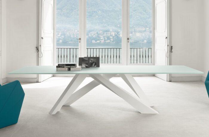 bonaldo big table white glass
