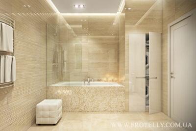 Проект ванной Marazzi Stonevision Travertino 2