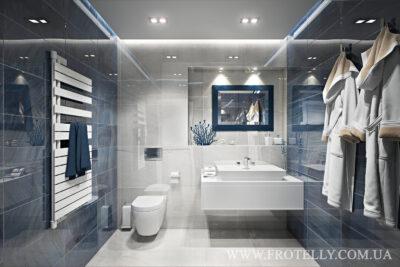 Проект ванной Gemstone White
