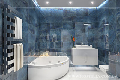 Проект ванной Gemstone Blue