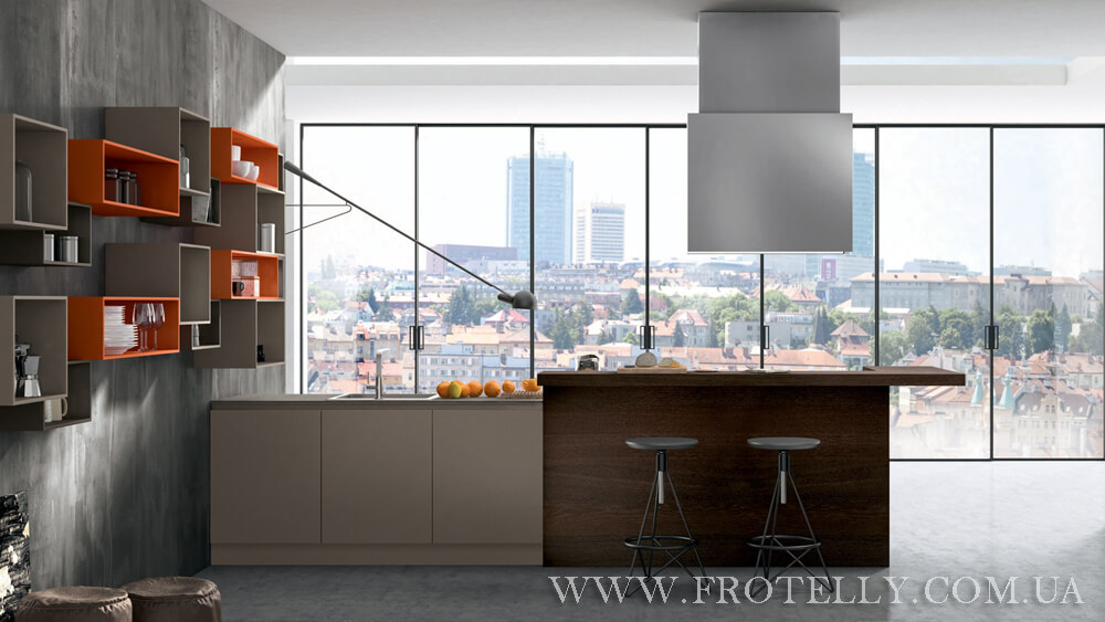 TreO Cucine R20 Laccato 1 итальянские кухни